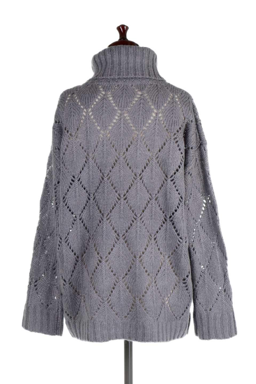 DiamondPatternTurtleNeckSweater模様編み・タートルネックセーター大人カジュアルに最適な海外ファッションのothers(その他インポートアイテム)のトップスやニット・セーター。たっぷり大きめのタートルネックがポイントのニット・セーター。オーバーサイズ気味のシルエットに長い袖が可愛いアイテム。/main-14