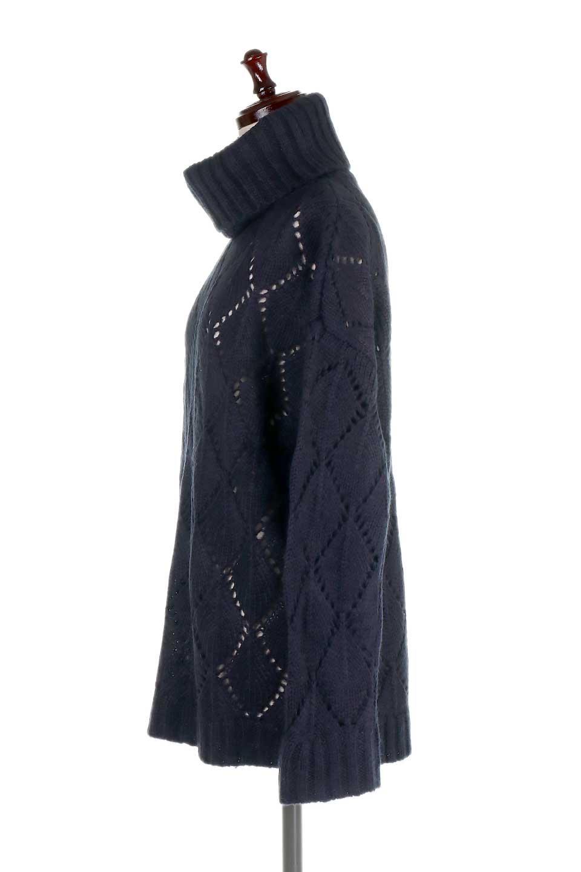 DiamondPatternTurtleNeckSweater模様編み・タートルネックセーター大人カジュアルに最適な海外ファッションのothers(その他インポートアイテム)のトップスやニット・セーター。たっぷり大きめのタートルネックがポイントのニット・セーター。オーバーサイズ気味のシルエットに長い袖が可愛いアイテム。/main-17