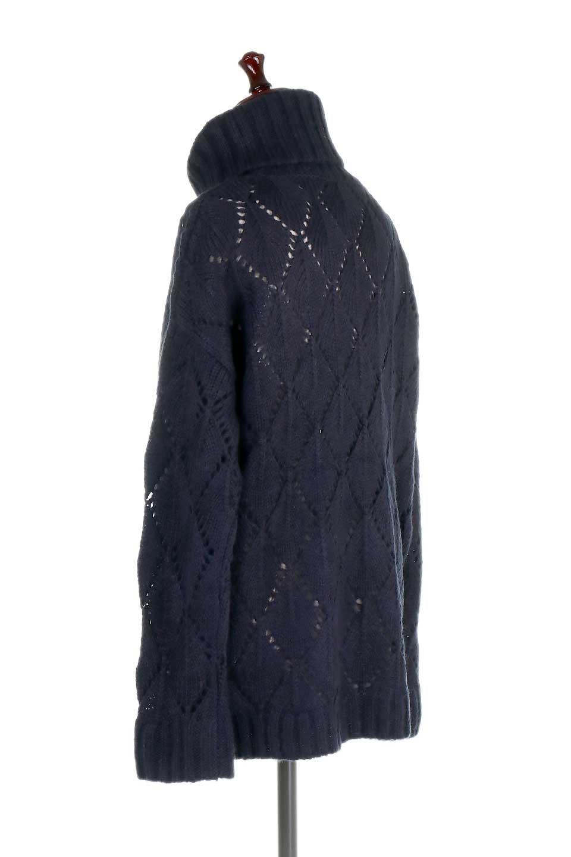DiamondPatternTurtleNeckSweater模様編み・タートルネックセーター大人カジュアルに最適な海外ファッションのothers(その他インポートアイテム)のトップスやニット・セーター。たっぷり大きめのタートルネックがポイントのニット・セーター。オーバーサイズ気味のシルエットに長い袖が可愛いアイテム。/main-18