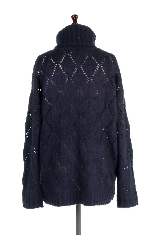 DiamondPatternTurtleNeckSweater模様編み・タートルネックセーター大人カジュアルに最適な海外ファッションのothers(その他インポートアイテム)のトップスやニット・セーター。たっぷり大きめのタートルネックがポイントのニット・セーター。オーバーサイズ気味のシルエットに長い袖が可愛いアイテム。/main-19