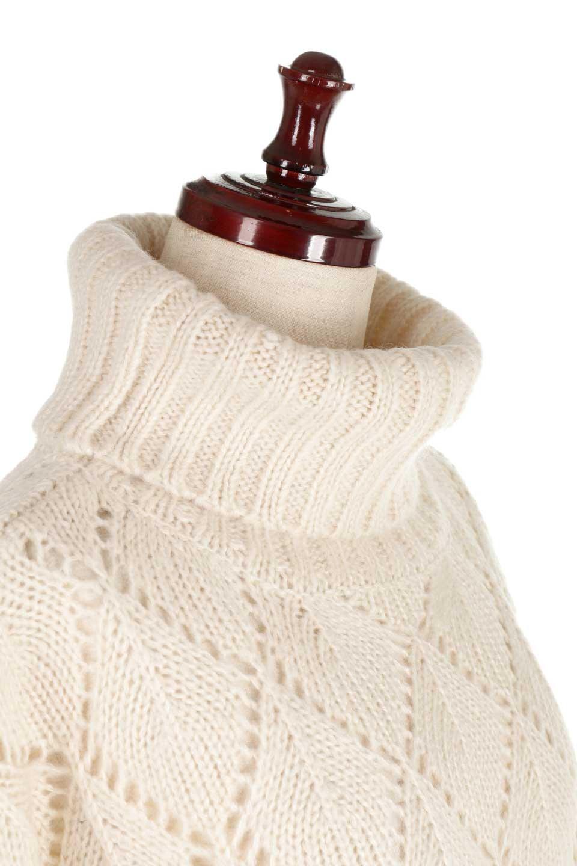DiamondPatternTurtleNeckSweater模様編み・タートルネックセーター大人カジュアルに最適な海外ファッションのothers(その他インポートアイテム)のトップスやニット・セーター。たっぷり大きめのタートルネックがポイントのニット・セーター。オーバーサイズ気味のシルエットに長い袖が可愛いアイテム。/main-20