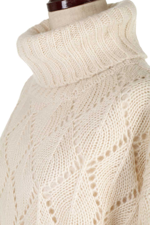 DiamondPatternTurtleNeckSweater模様編み・タートルネックセーター大人カジュアルに最適な海外ファッションのothers(その他インポートアイテム)のトップスやニット・セーター。たっぷり大きめのタートルネックがポイントのニット・セーター。オーバーサイズ気味のシルエットに長い袖が可愛いアイテム。/main-21