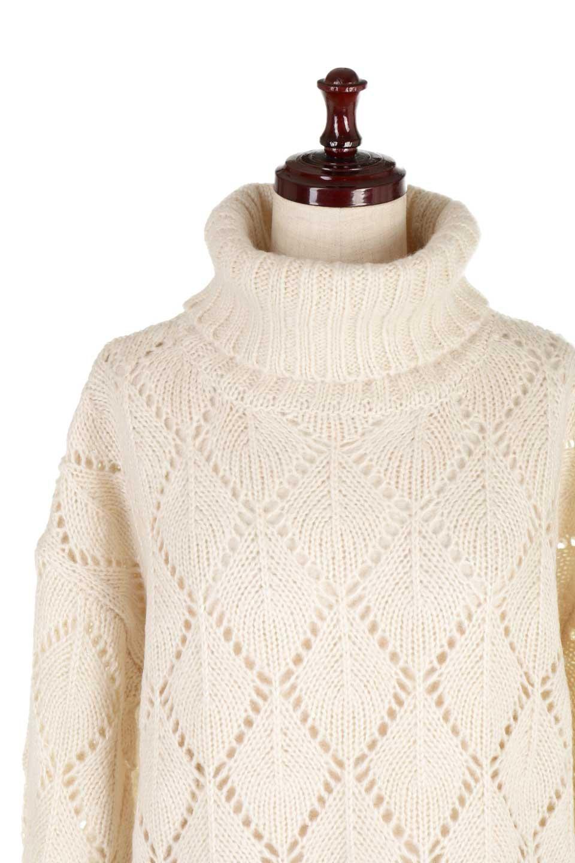 DiamondPatternTurtleNeckSweater模様編み・タートルネックセーター大人カジュアルに最適な海外ファッションのothers(その他インポートアイテム)のトップスやニット・セーター。たっぷり大きめのタートルネックがポイントのニット・セーター。オーバーサイズ気味のシルエットに長い袖が可愛いアイテム。/main-22