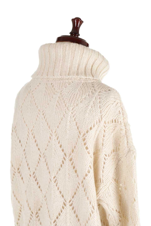 DiamondPatternTurtleNeckSweater模様編み・タートルネックセーター大人カジュアルに最適な海外ファッションのothers(その他インポートアイテム)のトップスやニット・セーター。たっぷり大きめのタートルネックがポイントのニット・セーター。オーバーサイズ気味のシルエットに長い袖が可愛いアイテム。/main-23
