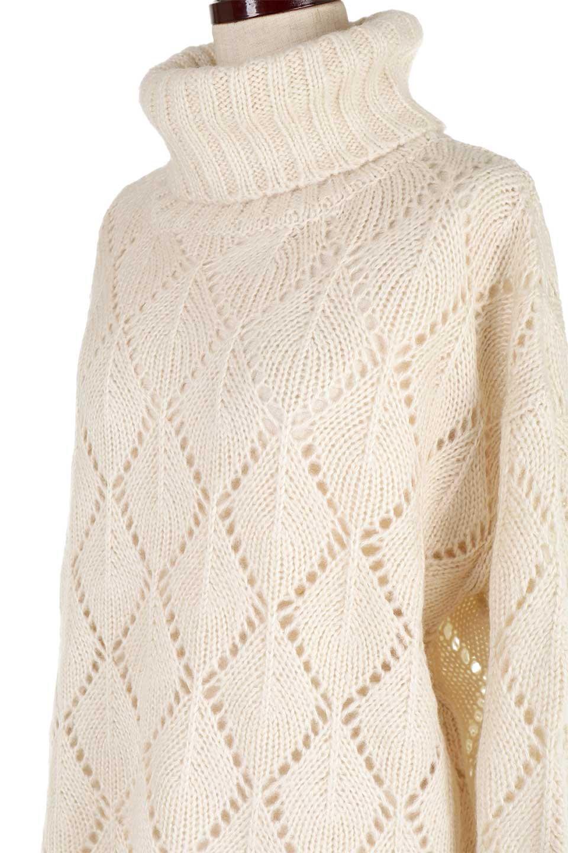 DiamondPatternTurtleNeckSweater模様編み・タートルネックセーター大人カジュアルに最適な海外ファッションのothers(その他インポートアイテム)のトップスやニット・セーター。たっぷり大きめのタートルネックがポイントのニット・セーター。オーバーサイズ気味のシルエットに長い袖が可愛いアイテム。/main-24