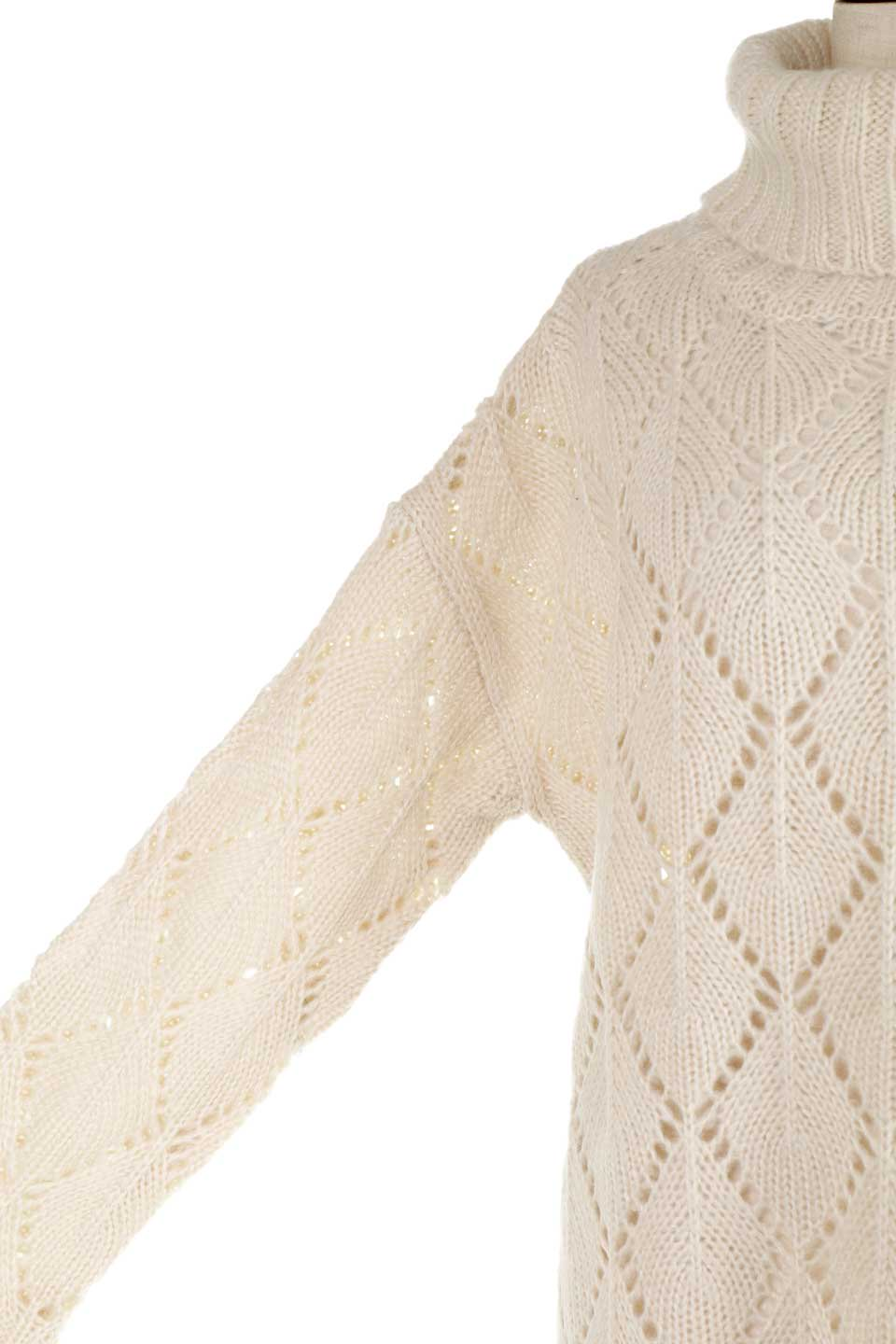 DiamondPatternTurtleNeckSweater模様編み・タートルネックセーター大人カジュアルに最適な海外ファッションのothers(その他インポートアイテム)のトップスやニット・セーター。たっぷり大きめのタートルネックがポイントのニット・セーター。オーバーサイズ気味のシルエットに長い袖が可愛いアイテム。/main-25