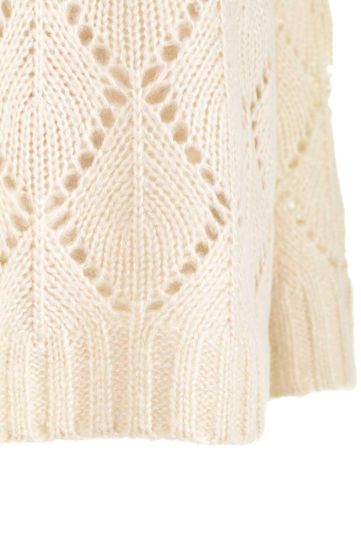 DiamondPatternTurtleNeckSweater模様編み・タートルネックセーター大人カジュアルに最適な海外ファッションのothers(その他インポートアイテム)のトップスやニット・セーター。たっぷり大きめのタートルネックがポイントのニット・セーター。オーバーサイズ気味のシルエットに長い袖が可愛いアイテム。/main-27