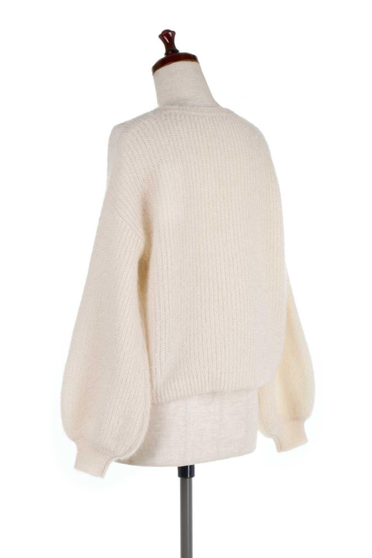 SparklyAcrylicmohairKnitTopキラキラモヘア・バルーンスリーブニット大人カジュアルに最適な海外ファッションのothers(その他インポートアイテム)のトップスやニット・セーター。キラキラ輝くアクリルモヘアのニットトップス。オススメポイントはなんと言ってもソフトで肌触りの良い、やや透け感のあるモヘア風のニット素材。/main-8