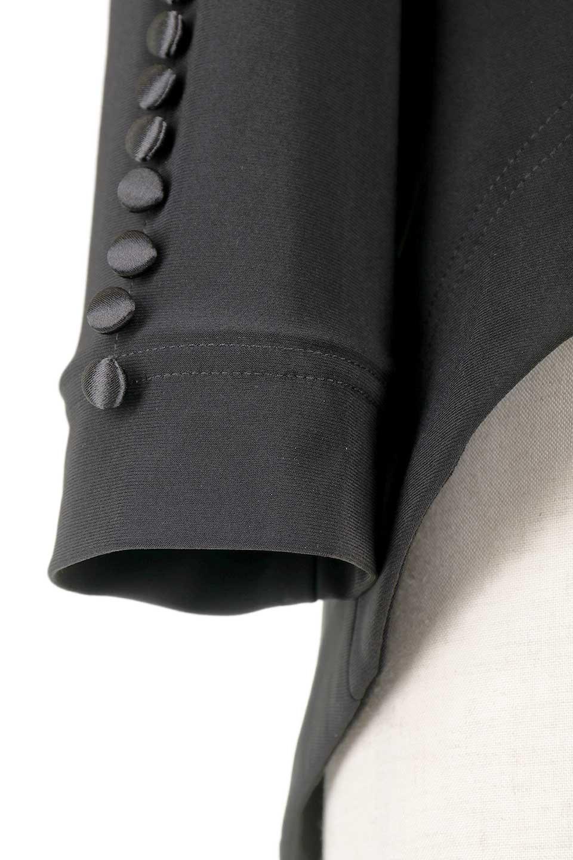 JosephRibkoffのJacket#1611407分袖・テールカットジャケット/JosephRibkoffのアウターやジャケット。ショート丈のノーカラーボタンレス・7分袖ジャケット。肩パッド入りのしっかりとした作りと動きやすいはいストレッチ素材のコンビネーションが素晴らしいジャケットです。/main-10