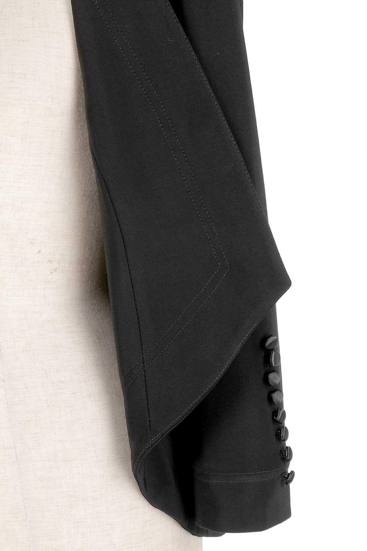 JosephRibkoffのJacket#1611407分袖・テールカットジャケット/JosephRibkoffのアウターやジャケット。ショート丈のノーカラーボタンレス・7分袖ジャケット。肩パッド入りのしっかりとした作りと動きやすいはいストレッチ素材のコンビネーションが素晴らしいジャケットです。/main-12
