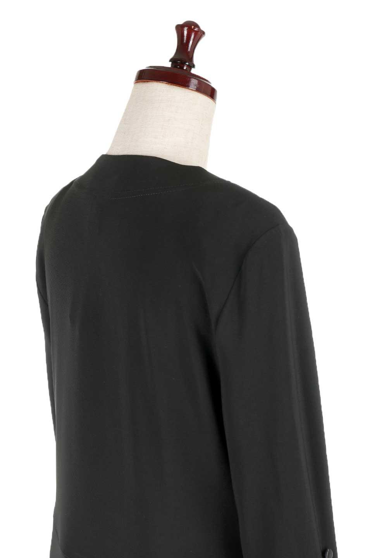 JosephRibkoffのJacket#1611407分袖・テールカットジャケット/JosephRibkoffのアウターやジャケット。ショート丈のノーカラーボタンレス・7分袖ジャケット。肩パッド入りのしっかりとした作りと動きやすいはいストレッチ素材のコンビネーションが素晴らしいジャケットです。/main-6