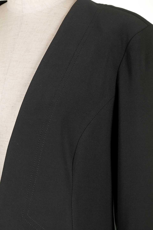 JosephRibkoffのJacket#1611407分袖・テールカットジャケット/JosephRibkoffのアウターやジャケット。ショート丈のノーカラーボタンレス・7分袖ジャケット。肩パッド入りのしっかりとした作りと動きやすいはいストレッチ素材のコンビネーションが素晴らしいジャケットです。/main-7