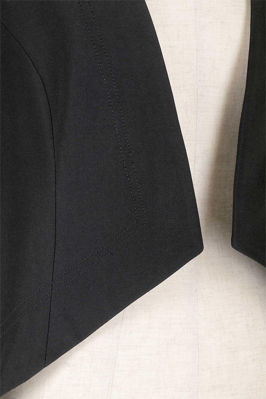 JosephRibkoffのJacket#1611407分袖・テールカットジャケット/JosephRibkoffのアウターやジャケット。ショート丈のノーカラーボタンレス・7分袖ジャケット。肩パッド入りのしっかりとした作りと動きやすいはいストレッチ素材のコンビネーションが素晴らしいジャケットです。/main-8