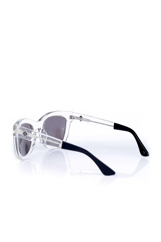 WONDERLANDのCOLONY(03-Clear/GrayLens)コロニー・セルフレーム・サングラス/WONDERLANDのメガネ・サングラスや。アメリカ西海岸のレディースクロージングブランド「STONECOLDFOX」とのコラボレーションモデルです。より女性らしいラウンドしたフレームと特徴的な大きなレンズは、クールな女性を演出してくれると同時に小顔効果が望めます。/main-3