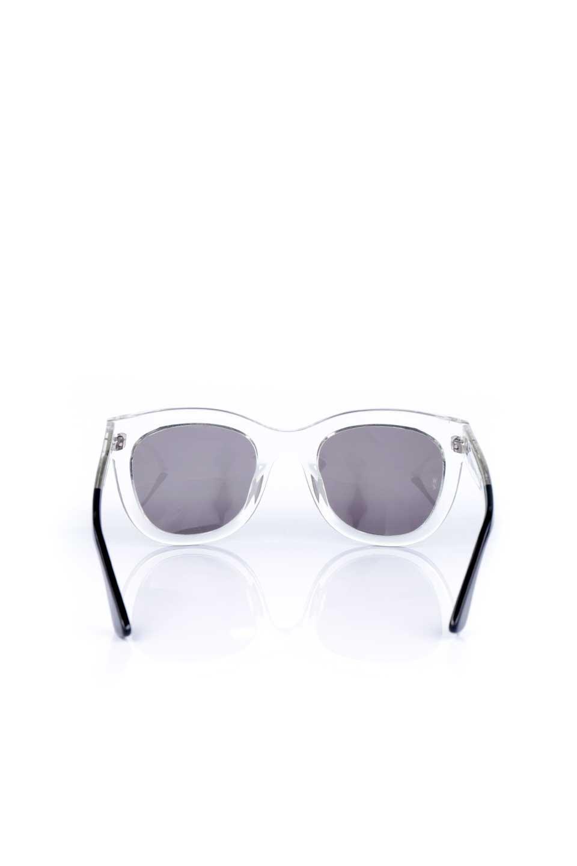 WONDERLANDのCOLONY(03-Clear/GrayLens)コロニー・セルフレーム・サングラス/WONDERLANDのメガネ・サングラスや。アメリカ西海岸のレディースクロージングブランド「STONECOLDFOX」とのコラボレーションモデルです。より女性らしいラウンドしたフレームと特徴的な大きなレンズは、クールな女性を演出してくれると同時に小顔効果が望めます。/main-4