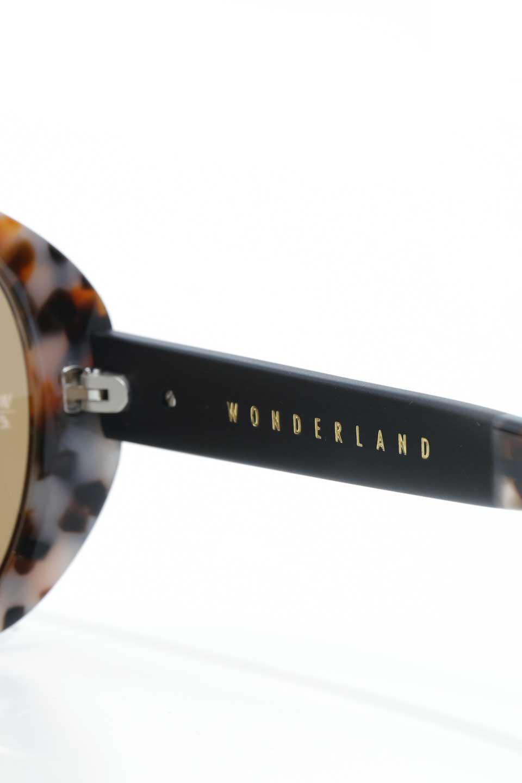 WONDERLANDのSUNCITY(04-CarmelTort/BronzeLens)サンシティー・セルフレーム・サングラス/WONDERLANDのメガネ・サングラスや。COLONY同様ウィメンズフレームとなる