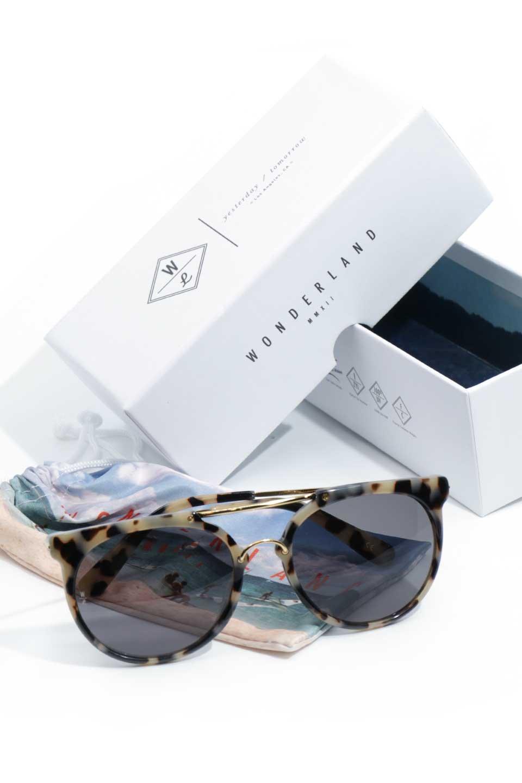 WONDERLANDのSTATELINE(13-Cookies&Cream/GreyLens)ステイトライン・メタルフレーム・サングラス/WONDERLANDのメガネ・サングラスや。WONDERLANDのコレクションの中で、アメリカ、日本共にロングセラーモデルとなっているアイコニックモデル