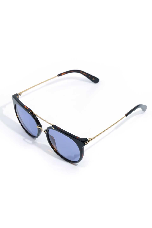 WONDERLANDのSTATELINE(09-BlackTort/BlueLens)ステイトライン・メタルフレーム・サングラス/WONDERLANDのメガネ・サングラスや。WONDERLANDのコレクションの中で、アメリカ、日本共にロングセラーモデルとなっているアイコニックモデル