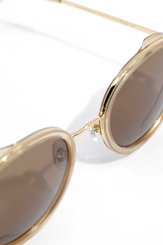 WONDERLANDのMONTCLAIR(03-Beach/BronzeLens)モンクレール・メタルフレーム・サングラス/WONDERLANDのメガネ・サングラスや。ラウンド型サングラスの代表的フレームを採用した