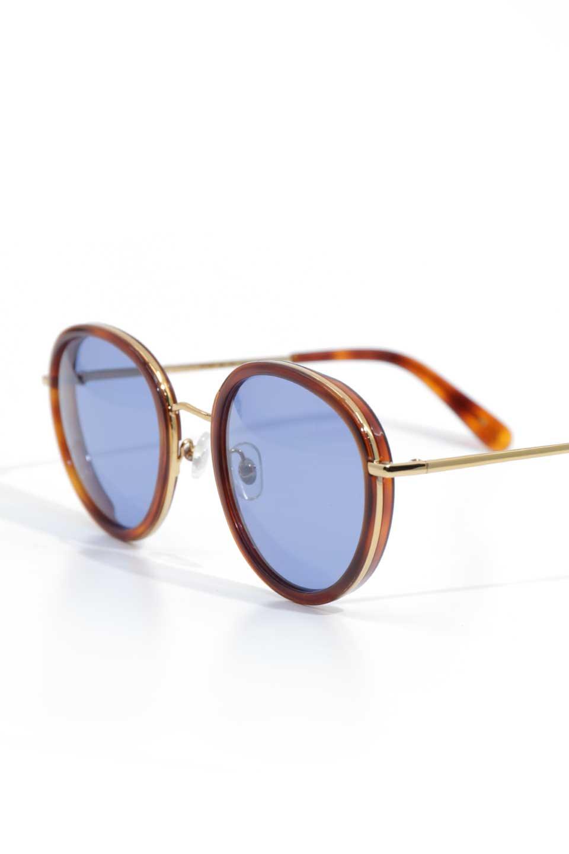 WONDERLANDのMONTCLAIR(06-Havana/BlueLens)モンクレール・メタルフレーム・サングラス/WONDERLANDのメガネ・サングラスや。ラウンド型サングラスの代表的フレームを採用した
