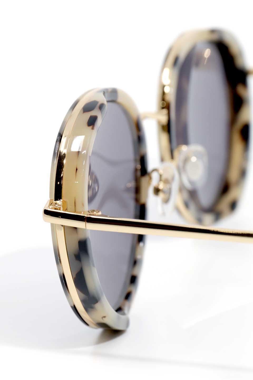 WONDERLANDのMONTCLAIR(05-Cookies&Cream/GreyLens)モンクレール・メタルフレーム・サングラス/WONDERLANDのメガネ・サングラスや。ラウンド型サングラスの代表的フレームを採用した