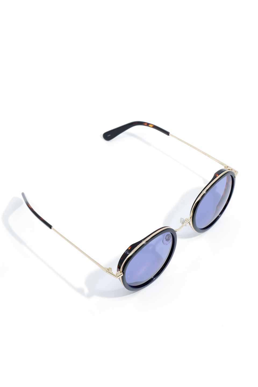 WONDERLANDのMONTCLAIR(04-BlackTort/BlueLens)モンクレール・メタルフレーム・サングラス/WONDERLANDのメガネ・サングラスや。ラウンド型サングラスの代表的フレームを採用した