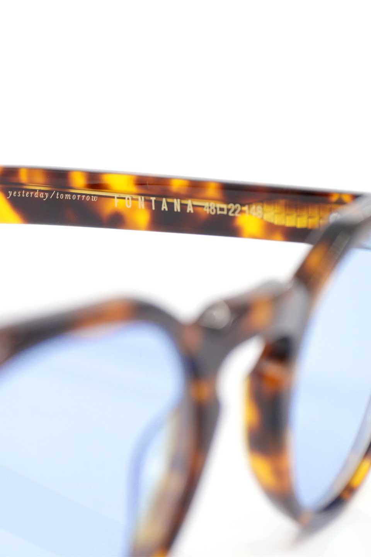 WONDERLANDのFONTANA(02-Tortoise/L.BlueLens)フォンタナ・セルフレーム・サングラス/WONDERLANDのメガネ・サングラスや。WONDERLANDから待望のクラウンパントフレームとなるFONTANA。レトロな雰囲気を醸し出すフレームに、ライトカラーレンズの組み合わせが現代らしさを演出する1本。/main-11