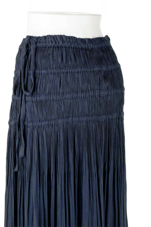 L.A.直輸入のPleatedMidiSkirtプリーツ入りミディスカート大人カジュアルに最適な海外ファッションのothers(その他インポートアイテム)のボトムやスカート。スッキリとした腰回りで大人のカジュアルコーディネートが楽しめるプリーツスカート。カラーは濃い目のネイビー。/main-12