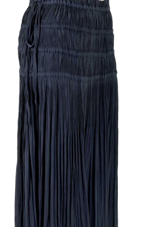 L.A.直輸入のPleatedMidiSkirtプリーツ入りミディスカート大人カジュアルに最適な海外ファッションのothers(その他インポートアイテム)のボトムやスカート。スッキリとした腰回りで大人のカジュアルコーディネートが楽しめるプリーツスカート。カラーは濃い目のネイビー。/main-13