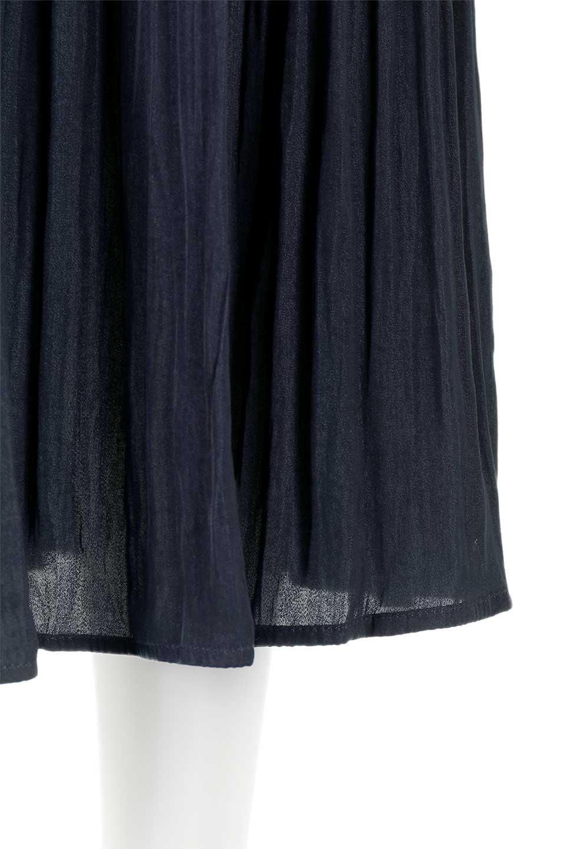 L.A.直輸入のPleatedMidiSkirtプリーツ入りミディスカート大人カジュアルに最適な海外ファッションのothers(その他インポートアイテム)のボトムやスカート。スッキリとした腰回りで大人のカジュアルコーディネートが楽しめるプリーツスカート。カラーは濃い目のネイビー。/main-15