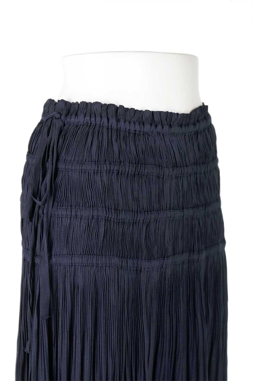 L.A.直輸入のPleatedMidiSkirtプリーツ入りミディスカート大人カジュアルに最適な海外ファッションのothers(その他インポートアイテム)のボトムやスカート。スッキリとした腰回りで大人のカジュアルコーディネートが楽しめるプリーツスカート。カラーは濃い目のネイビー。/main-9