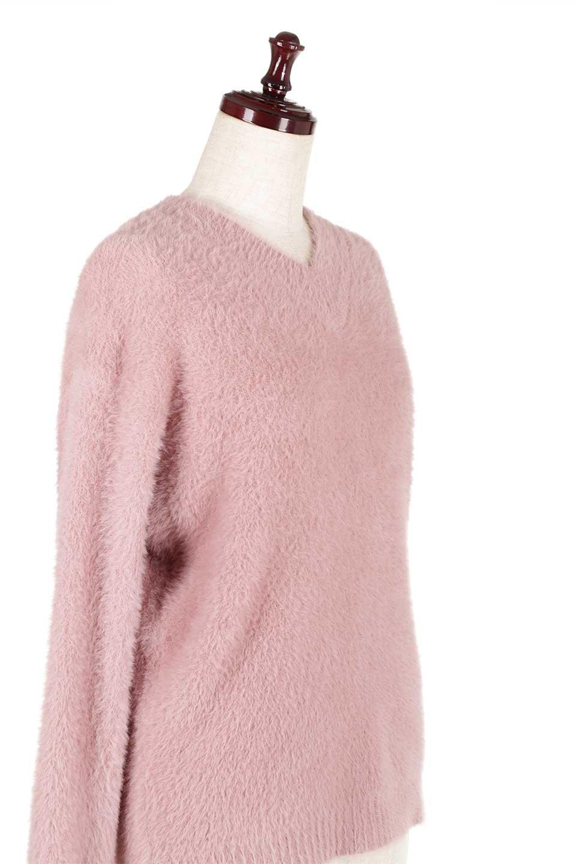 ShaggyknitPullOverTopミラノリブニットV・ネックチュニック大人カジュアルに最適な海外ファッションのothers(その他インポートアイテム)のトップスやニット・セーター。ふわふわシャギーが着心地抜群のVネックのプルオーバーチュニック。ミラノリブという編地でしっかりとした編みになっているので保温効果も抜群です。/main-16