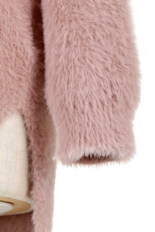 ShaggyknitPullOverTopミラノリブニットV・ネックチュニック大人カジュアルに最適な海外ファッションのothers(その他インポートアイテム)のトップスやニット・セーター。ふわふわシャギーが着心地抜群のVネックのプルオーバーチュニック。ミラノリブという編地でしっかりとした編みになっているので保温効果も抜群です。/main-24