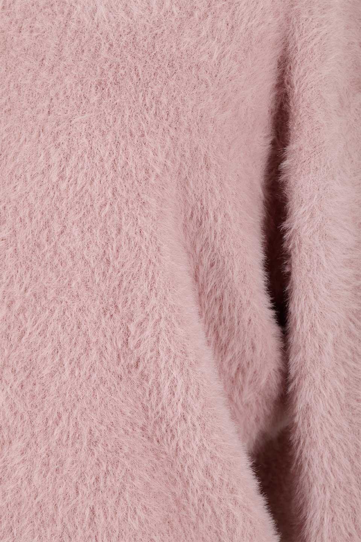 ShaggyknitPullOverTopミラノリブニットV・ネックチュニック大人カジュアルに最適な海外ファッションのothers(その他インポートアイテム)のトップスやニット・セーター。ふわふわシャギーが着心地抜群のVネックのプルオーバーチュニック。ミラノリブという編地でしっかりとした編みになっているので保温効果も抜群です。/main-25