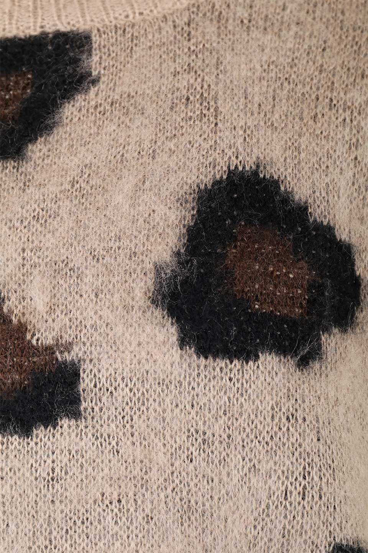 LeopardPatternMohairKnitTopレオパード柄・モヘアニットトップス大人カジュアルに最適な海外ファッションのothers(その他インポートアイテム)のトップスやニット・セーター。ゆるっとしたオーバーサイズ感とふわふわの表面感がかわいい総柄ニット。オーバーサイズの遊び心のある総柄ニットは、コーディネートの主役にぴったりの1枚です。/main-12