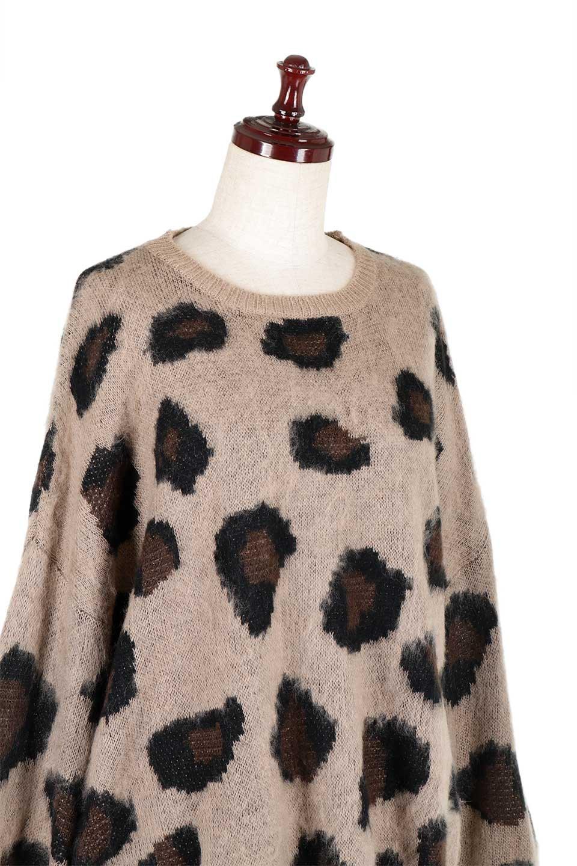 LeopardPatternMohairKnitTopレオパード柄・モヘアニットトップス大人カジュアルに最適な海外ファッションのothers(その他インポートアイテム)のトップスやニット・セーター。ゆるっとしたオーバーサイズ感とふわふわの表面感がかわいい総柄ニット。オーバーサイズの遊び心のある総柄ニットは、コーディネートの主役にぴったりの1枚です。/main-7