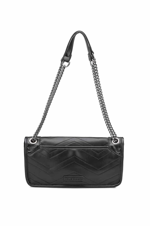 meliebiancoのAndie(Black)キルティングレザー・ショルダーバッグ/海外ファッション好きにオススメのインポートバッグとかばん、MelieBianco(メリービアンコ)のバッグやショルダーバッグ。meliebianco(メリービアンコ)の2019年春夏の新作になります。メリービアンコ自慢のビーガンレザーを使用したアニマルフレンドリーなアイテム。/main-5