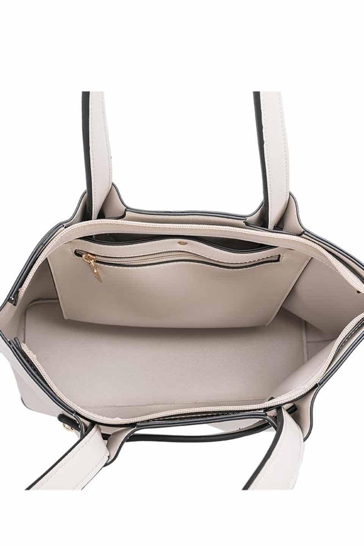 meliebiancoのSarah(Bone)スムースレザー・トートバッグ/海外ファッション好きにオススメのインポートバッグとかばん、MelieBianco(メリービアンコ)のバッグやトートバッグ。meliebianco(メリービアンコ)の2019年春夏の新作になります。メリービアンコ自慢のビーガンレザーを使用したアニマルフレンドリーなアイテム。/main-5