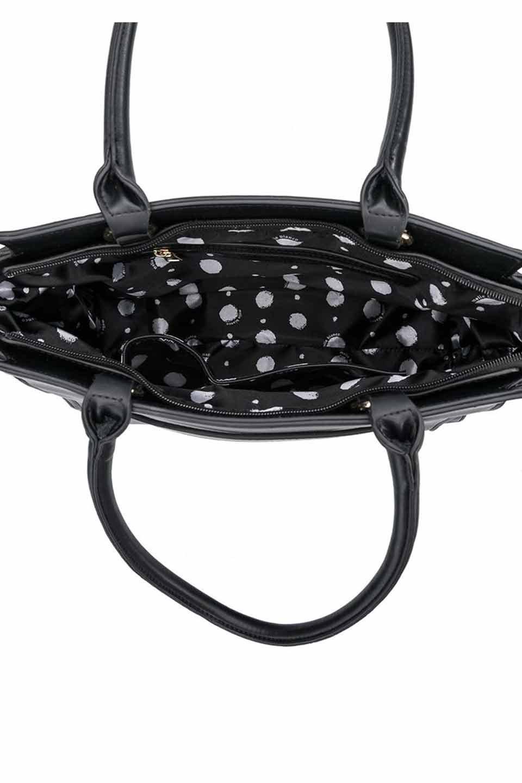 meliebiancoのElizabeth(Black)ロングハンドル・2Wayハンドバッグ/海外ファッション好きにオススメのインポートバッグとかばん、MelieBianco(メリービアンコ)のバッグやハンドバッグ。meliebianco(メリービアンコ)の2019年春夏の新作になります。メリービアンコ自慢のビーガンレザーを使用したアニマルフレンドリーなアイテム。/main-6