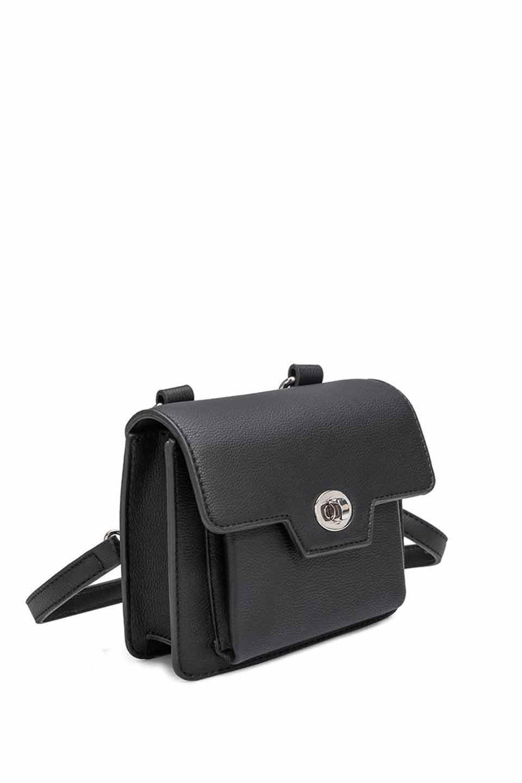 meliebiancoのLara(Black)ロングストラップ・スクエアショルダーバッグ/海外ファッション好きにオススメのインポートバッグとかばん、MelieBianco(メリービアンコ)のバッグやハンドバッグ。meliebianco(メリービアンコ)の2019年春夏の新作になります。メリービアンコ自慢のビーガンレザーを使用したアニマルフレンドリーなアイテム。/main-5