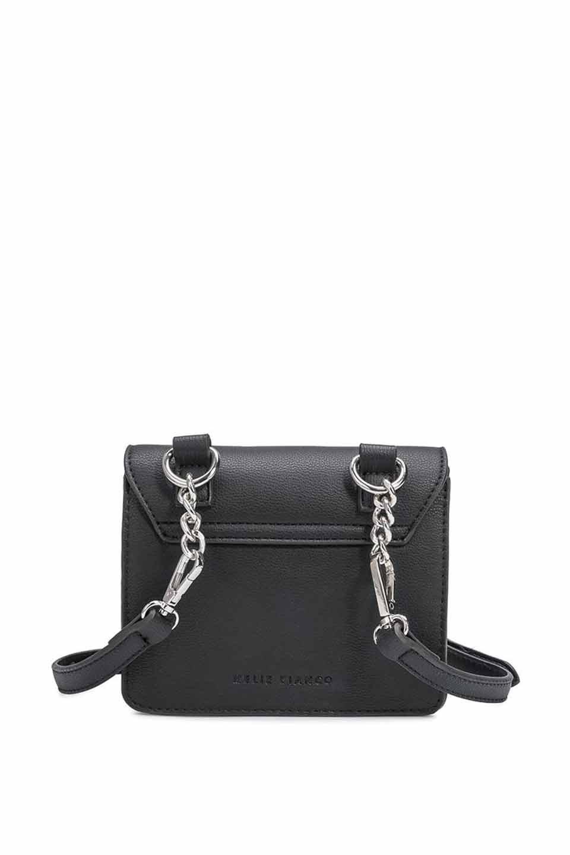 meliebiancoのLara(Black)ロングストラップ・スクエアショルダーバッグ/海外ファッション好きにオススメのインポートバッグとかばん、MelieBianco(メリービアンコ)のバッグやハンドバッグ。meliebianco(メリービアンコ)の2019年春夏の新作になります。メリービアンコ自慢のビーガンレザーを使用したアニマルフレンドリーなアイテム。/main-6