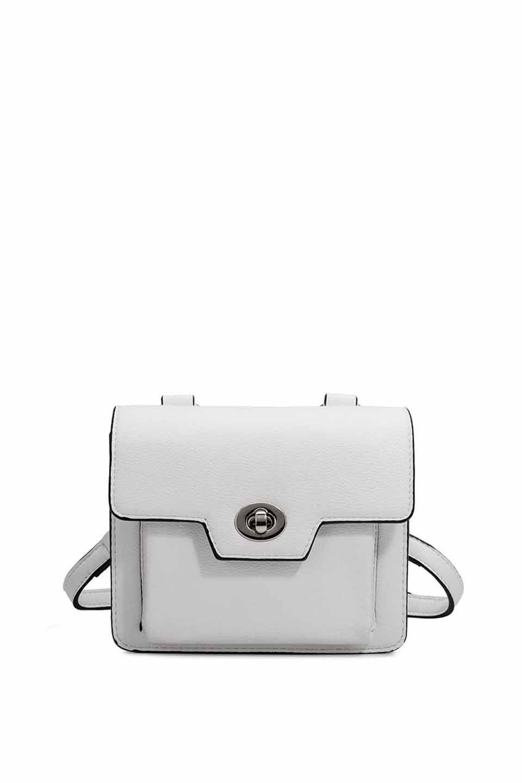 meliebiancoのLara(White)ロングストラップ・スクエアショルダーバッグ/海外ファッション好きにオススメのインポートバッグとかばん、MelieBianco(メリービアンコ)のバッグやハンドバッグ。meliebianco(メリービアンコ)の2019年春夏の新作になります。メリービアンコ自慢のビーガンレザーを使用したアニマルフレンドリーなアイテム。/main-5