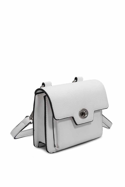 meliebiancoのLara(White)ロングストラップ・スクエアショルダーバッグ/海外ファッション好きにオススメのインポートバッグとかばん、MelieBianco(メリービアンコ)のバッグやハンドバッグ。meliebianco(メリービアンコ)の2019年春夏の新作になります。メリービアンコ自慢のビーガンレザーを使用したアニマルフレンドリーなアイテム。/main-6