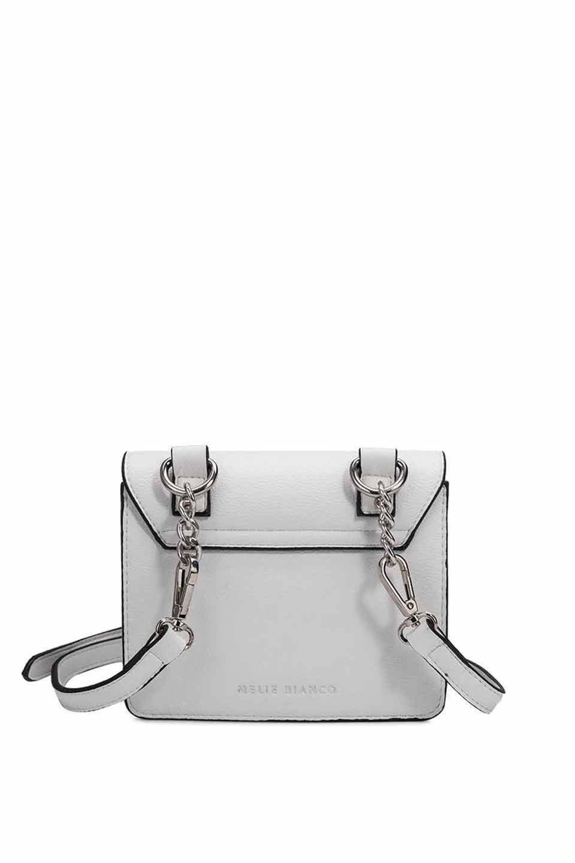meliebiancoのLara(White)ロングストラップ・スクエアショルダーバッグ/海外ファッション好きにオススメのインポートバッグとかばん、MelieBianco(メリービアンコ)のバッグやハンドバッグ。meliebianco(メリービアンコ)の2019年春夏の新作になります。メリービアンコ自慢のビーガンレザーを使用したアニマルフレンドリーなアイテム。/main-7