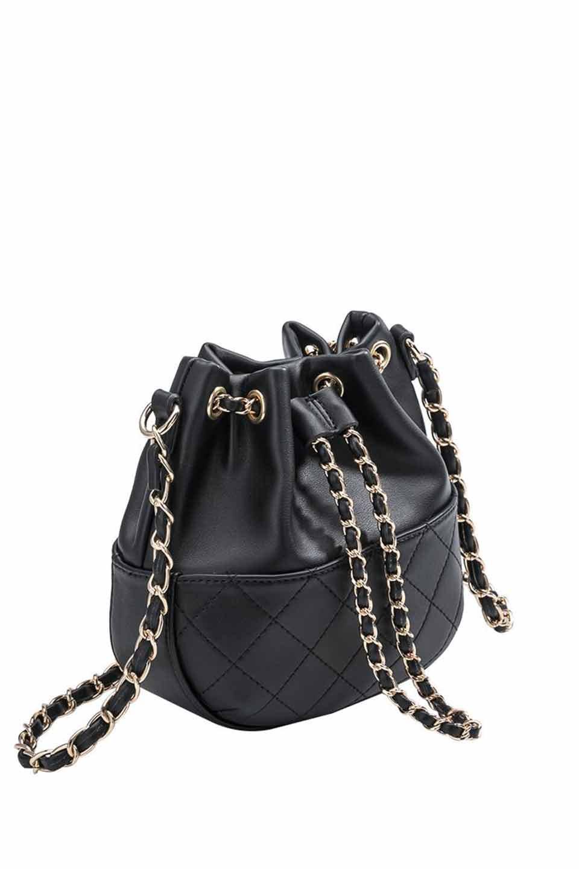 meliebiancoのKathy(Black)チェーンストラップ・巾着バッグ/海外ファッション好きにオススメのインポートバッグとかばん、MelieBianco(メリービアンコ)のバッグやショルダーバッグ。meliebianco(メリービアンコ)の2019年春夏の新作になります。メリービアンコ自慢のビーガンレザーを使用したアニマルフレンドリーなアイテム。/main-5
