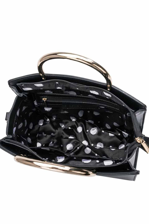 meliebiancoのEileen(Black)ゴールドハンドル・ハンドバッグ/海外ファッション好きにオススメのインポートバッグとかばん、MelieBianco(メリービアンコ)のバッグやショルダーバッグ。meliebianco(メリービアンコ)の2019年春夏の新作になります。メリービアンコ自慢のビーガンレザーを使用したアニマルフレンドリーなアイテム。/main-6