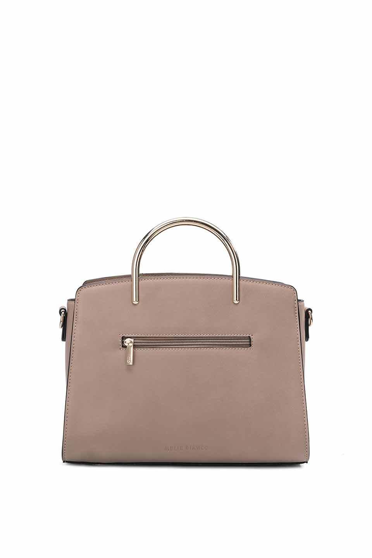 meliebiancoのEileen(Nude)ゴールドハンドル・ハンドバッグ/海外ファッション好きにオススメのインポートバッグとかばん、MelieBianco(メリービアンコ)のバッグやショルダーバッグ。meliebianco(メリービアンコ)の2019年春夏の新作になります。メリービアンコ自慢のビーガンレザーを使用したアニマルフレンドリーなアイテム。/main-5
