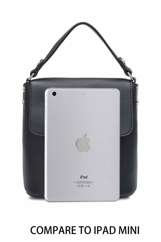 meliebiancoのRemy(Black)スクエア・ミニハンドバッグ/海外ファッション好きにオススメのインポートバッグとかばん、MelieBianco(メリービアンコ)のバッグやショルダーバッグ。meliebianco(メリービアンコ)の2019年春夏の新作になります。メリービアンコ自慢のビーガンレザーを使用したアニマルフレンドリーなアイテム。/main-6