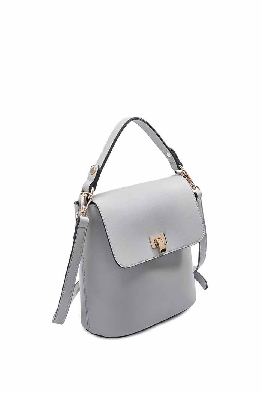 meliebiancoのRemy(Gray)スクエア・ミニハンドバッグ/海外ファッション好きにオススメのインポートバッグとかばん、MelieBianco(メリービアンコ)のバッグやショルダーバッグ。meliebianco(メリービアンコ)の2019年春夏の新作になります。メリービアンコ自慢のビーガンレザーを使用したアニマルフレンドリーなアイテム。/main-5