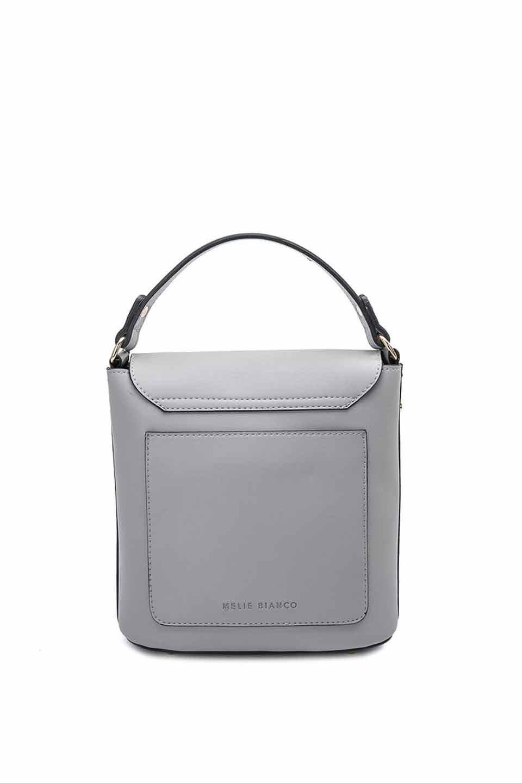 meliebiancoのRemy(Gray)スクエア・ミニハンドバッグ/海外ファッション好きにオススメのインポートバッグとかばん、MelieBianco(メリービアンコ)のバッグやショルダーバッグ。meliebianco(メリービアンコ)の2019年春夏の新作になります。メリービアンコ自慢のビーガンレザーを使用したアニマルフレンドリーなアイテム。/main-6